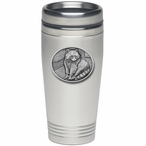 Raccoon Stainless Steel Travel Mug with Pewter Accent