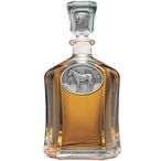 Racehorse Capitol Glass Decanter with Pewter Accents