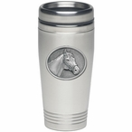 Racehorse Stainless Steel Travel Mug with Pewter Accent