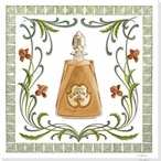 Radiance Perfume Bottle Wrapped Canvas Giclee Print Wall Art
