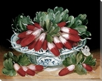 Radishes in a Bowl Wrapped Canvas Giclee Print Wall Art