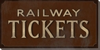 Railway Tickets Sign Wrapped Canvas Giclee Print Wall Art