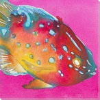 Rainbow Fish Surprise Wrapped Canvas Giclee Print Wall Art