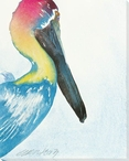 Rainbow Pelican Bird Wrapped Canvas Giclee Print Wall Art
