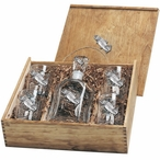 Rainbow Trout Fish Capitol Decanter & DOF Glasses Box Set with Pewter