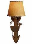 Ram Goat Arrow Metal Wall Sconce with Shade