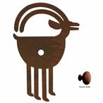 Ram Goat Metal Drawer Pull with Back Plate