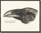Raven Bird Profile Wrapped Canvas Giclee Print Wall Art