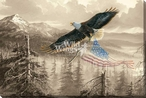 Rebuilding America Eagle Bird Wrapped Canvas Giclee Art Print Wall Art