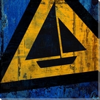 Recreation Boating Sign Wrapped Canvas Giclee Print Wall Art