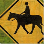 Recreation Horseback Riding Sign Wrapped Canvas Giclee Print