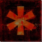 Red Asterisk Symbol Wrapped Canvas Giclee Print Wall Art