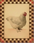 Red Comb Chicken Bird 2 Wrapped Canvas Giclee Print Wall Art
