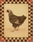 Red Comb Chicken Bird 3 Wrapped Canvas Giclee Print Wall Art