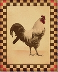 Red Comb Chicken Bird 4 Wrapped Canvas Giclee Print Wall Art