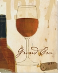 Red Glass of Wine Wrapped Canvas Giclee Print Wall Art