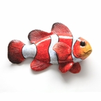 Red Hanging Clown Fish Statues, Set of 4