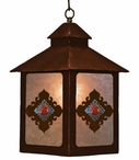 Red Jasper Stone Metal Lantern Pendant Light