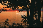 Red Lake Sunset Wrapped Canvas Giclee Art Print Wall Art