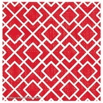 Red Lattice Absorbent Beverage Coasters by Michael Mullan, Set of 12