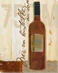 Red Wine Bottle Wrapped Canvas Giclee Print Wall Art
