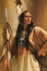 Redhawk Native American Portrait Canvas Giclee Art Print Wall Art
