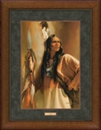 Redhawk Native American Portrait Framed Art Print Wall Art
