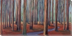 Redwood Forest Wrapped Canvas Giclee Print Wall Art