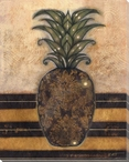 Regal Pineapple II Wrapped Canvas Giclee Print Wall Art