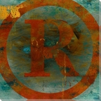 Registered Mark Symbol Wrapped Canvas Giclee Print Wall Art