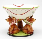 Reindeer Punch Bowl by Laurie Furnell