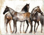 Resting Equine Horses Wrapped Canvas Giclee Print Wall Art
