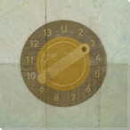 Retro TV Dial Wrapped Canvas Giclee Print Wall Art