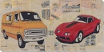 Retro Vehicle Wrapped Canvas Giclee Print Wall Art