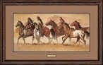 Return of the Stolen Ponies Native Americans Artist Proof Framed Art