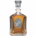 Rhinoceros Capitol Glass Decanter with Pewter Accents