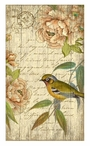 Right Bird with Flowers Vintage Style Metal Sign