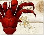 Right Half of Crab Wrapped Canvas Giclee Print Wall Art