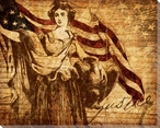 Right of Justice Lady Liberty Wrapped Canvas Giclee Print Wall Art