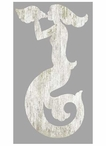 Right White Mermaid Silhouette Vintage Style Metal Sign