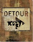 Road Sign Detour Wrapped Canvas Giclee Print Wall Art