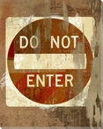 Road Sign Do Not Enter Wrapped Canvas Giclee Print Wall Art