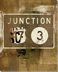 Road Sign Junction Wrapped Canvas Giclee Print Wall Art