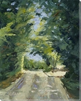 Road to Honfluer Wrapped Canvas Giclee Print Wall Art