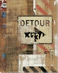 Road Trip Detour Sign Wrapped Canvas Giclee Print Wall Art
