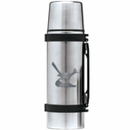 Roadrunner Bird Stainless Steel Thermos with Pewter Accent