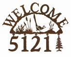 Roadrunner Metal Address Welcome Sign