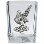 Roadrunner Pewter Accent Shot Glasses, Set of 4