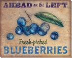 Roadside Blueberries Wrapped Canvas Giclee Print Wall Art