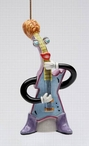 Rock & Roll Electric Guitar Tree Ornaments by Ed Sussman, Set of 4